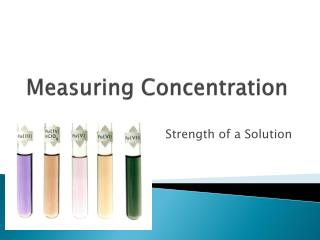 Measuring Concentration