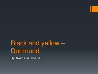 Black and yellow – Dortmund