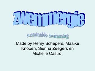 Made by Remy Schepers, Maaike Knoben, Siënna Zeegers en Michelle Castro.