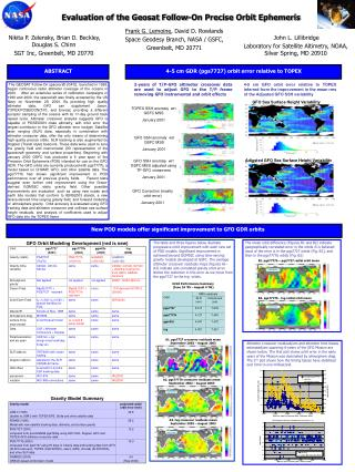 Evaluation of the Geosat Follow-On Precise Orbit Ephemeris
