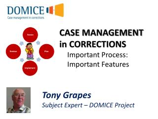 CASE MANAGEMENT in CORRECTIONS Important Process: Important Features