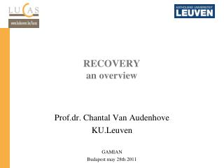 RECOVERY an overview