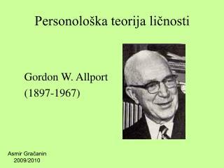 Personološka teorija ličnosti
