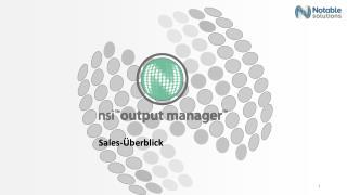 Sales-�berblick