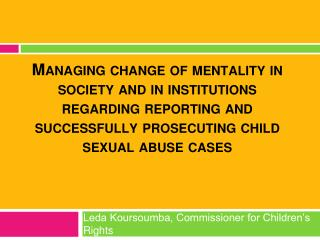 Leda Koursoumba, Commissioner for Children's Rights