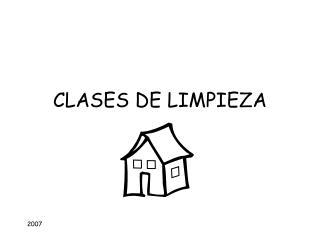 CLASES DE LIMPIEZA
