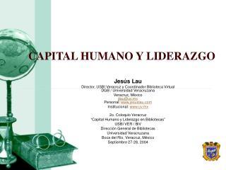 CAPITAL HUMANO Y LIDERAZGO