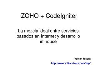 ZOHO + CodeIgniter