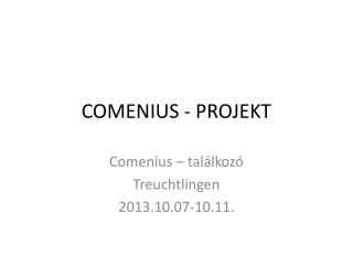COMENIUS - PROJEKT
