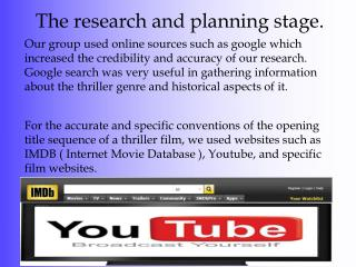 The research and planning stage.