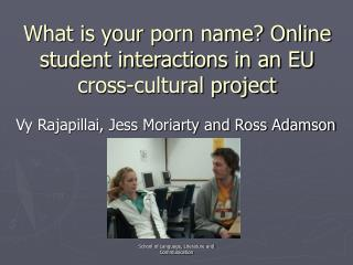 What is your porn name? Online student interactions in an EU cross-cultural project