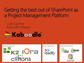 Getting the best out of SharePoint as a Project Management Platform