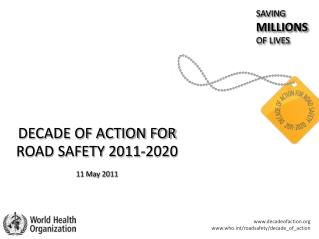 DECADE OF ACTION FOR ROAD SAFETY 2011-2020 11 May 2011