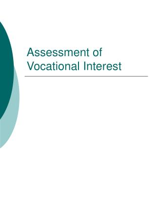 Assessment of Vocational Interest