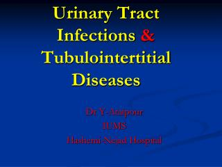 Urinary Tract Infections  & Tubulointertitial  Diseases