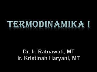 TERMODINAMIKA I