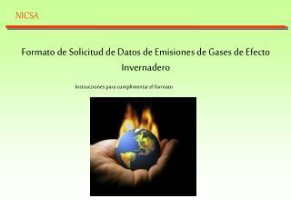 Formato de Solicitud de Datos de Emisiones de Gases de Efecto Invernadero