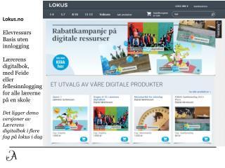 Lokus.no Elevressurs Basis uten innlogging Lærerens  digitalbok , med Feide