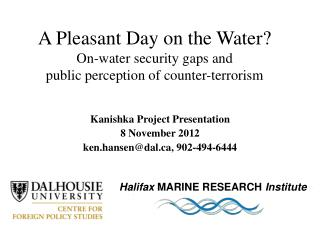 A Pleasant Day on the Water? On-water security gaps and  public perception of counter-terrorism
