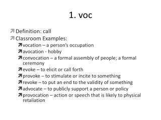 1. voc