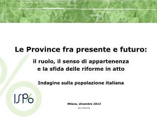 Indagine sulla popolazione italiana
