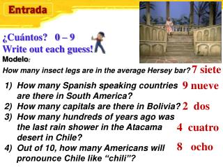 How many Spanish speaking countries are there in South America?