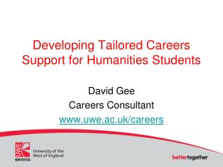 Developing Tailored Careers Support for Humanities Students