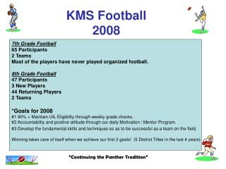 KMS Football 2008