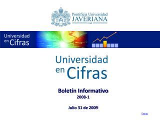 Boletín Informativo 2008-1 Julio 31 de 2009