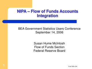 NIPA – Flow of Funds Accounts Integration