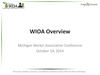 WIOA Overview