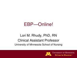 EBP—Online!
