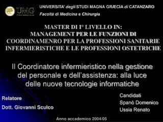 Candidati Spanò Domenico Ussia Renato