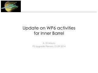 Update on WP6 activities  for Inner Barrel