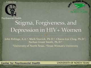 Stigma, Forgiveness, and Depression in HIV+ Women