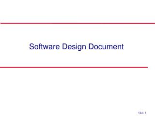 Software Design Document