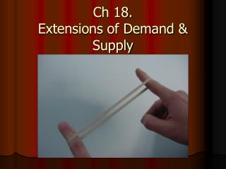 Ch 18. Extensions of Demand & Supply