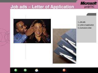 Job ads – Letter of Application
