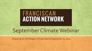 September Climate Webinar