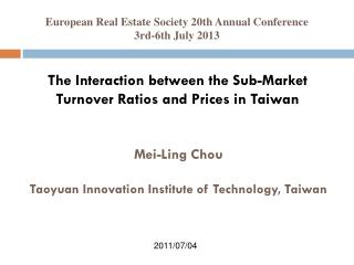 The Interaction between the Sub-Market Turnover Ratios and Prices in Taiwan