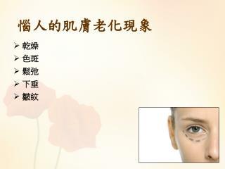 惱人的肌膚老化現象