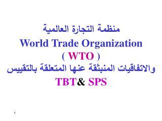منظمة التجارة العالمية World Trade Organization ( WTO  )