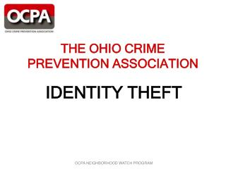 THE OHIO CRIME PREVENTION ASSOCIATION
