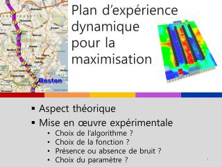 Plan d'expérience dynamique  pour la  maximisation