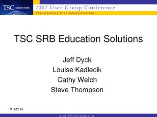 TSC SRB Education Solutions