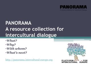 PANORAMA  A resource collection for intercultural dialogue