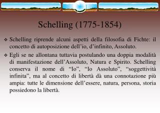 Schelling (1775-1854)