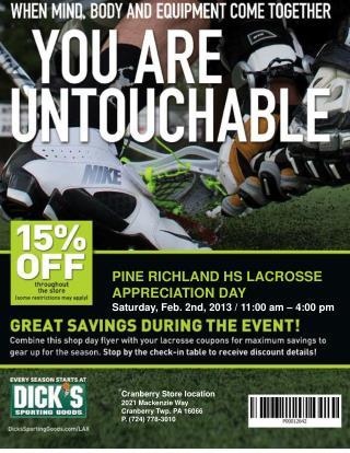 Pine Richland HS Lacrosse Appreciation Day Saturday, Feb. 2nd, 2013 / 11:00 am – 4:00 pm