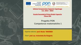 Progetto PON Competenze matematiche 1