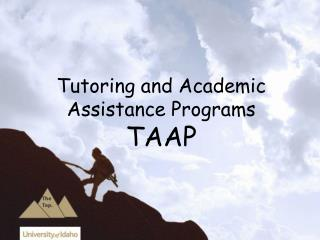 Tutoring and Academic Assistance Programs TAAP
